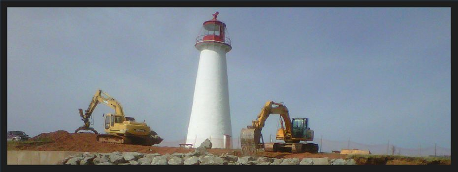 Construction on lighthouse